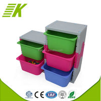 Practical clear plastic cd storage box