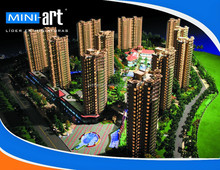 Experienced China Shangri-La residential model builder maquette house model