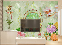 3d Jade carving seamless three-dimensional wallpaper TV backdrop hotel wall murals