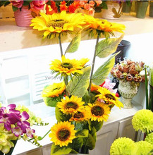 Hot sale Artificial Sunflowers Heads Decoration Wholesale Silk artificial flower sunflowers for home decor