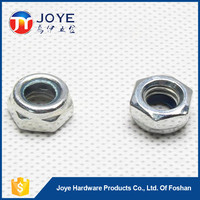 2015 new arrival plated white stainless steel insert lock nut