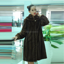 Y15A001 Fahionable dyed mink fur coat