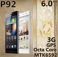 Original P92 MTK6592 córtex a7 Octa Core 6.0'' HDIPS barato nfc GPS 13.0MP android phone1gb móvel ram mais forte do que a Huawei