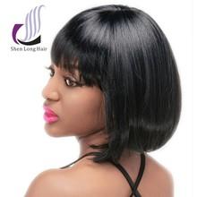 Wholesale bob style kanekalon synthetic short hair wig german synthetic hair wigs for asian women