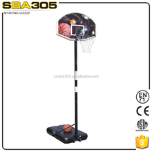 portable basketball stand with basketball pole and net