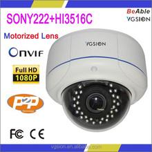 Onvif HD 1080P 4x motorized varifocal zoom lens ip camera support P2P function