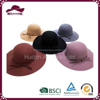 ladies fashion wool felt floppy hat for wholesale