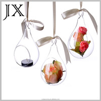 wholesale hanging tear drop ball glass candle holder