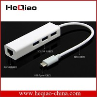 Network card 10/100Mbps 3 port usb hub to female rj45 ethernet lan adapter