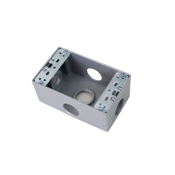 Deep 3 Holes Rigid Aluminum One Gang Weatherproof Electrical Boxes