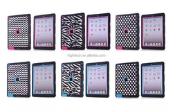 Genuine Laser Etching Design Silicone Rubber and Pc Material Soft and Hard Case for Ipad mini