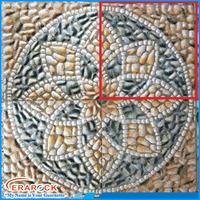 Non Slip Flower Design Pebble Ceramic Floor Tile 30x30 Sizes