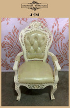 Fashion New design leather dinner arm chair