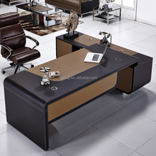 luxury leather cover table modern executive office furniture office table