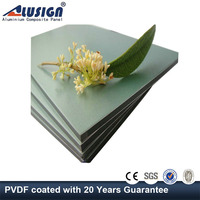 Alusign latest design 3mm aluminum composite panel of pvdf coating from china