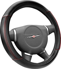 Carbon fiber factory cheap PU steering wheel cover