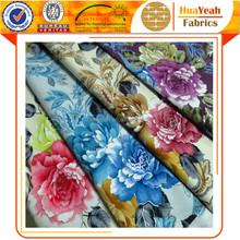Burnout polyester floral printing velvet fabric and textile