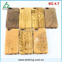 Wood case For iPhone 6 / bamboo case for iPhone 6 / for iPhone 6 carved wood case
