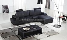Simple durable design home leather furniture corner sofa design 104C