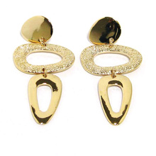 Wholesale Hot New Products for 2015 Gold Earring Alloy Dangle Hoop Earring Jewel
