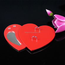 Handmade red heart shape OEM/ODM acrylic material desk 2016 calendar for promotion gifts wholesale