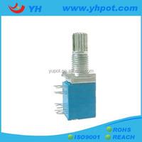 YH jiangsu 9mm 4 gang sealed rotary 5k electric motor potentiometer with metal shaft