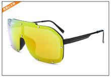 385 ewhxyj Stylish ladies section Siamese sunglasses burst models reflective orange square glasses black sunglasses