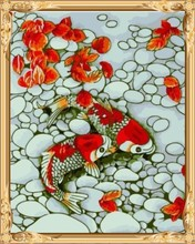 GX7686 fish canvas oil paint by numbers wall art painting