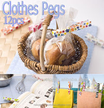 Cute design laundry clips as clothes Pegs and food plastic bag clips