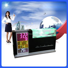 New Style Products LED Digital 3D weather clock