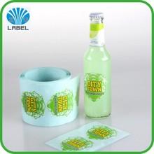 custom full color printing sticker for bottles,permanent adhesive plastic/glass bottle sticker label