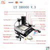 Low Cost, Infrared BGA rework station LY IR6000 V.3, welding machining for motherboard.