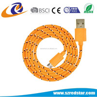 Micro-USB Type and Computer,Mobile Phone Use bright colors nylon usb cable