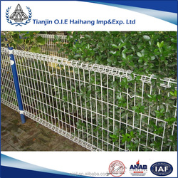 High quality powder coating galvanized double wire fence/Ornamental double loop wire fence