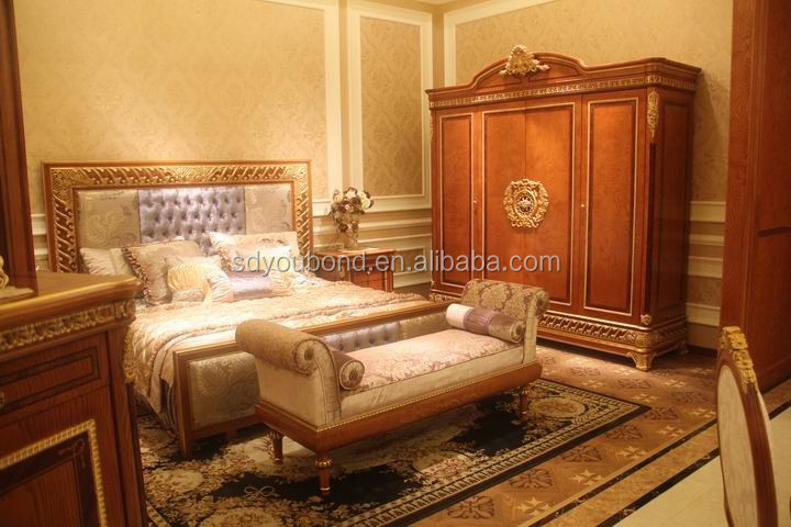 0062 italian classic brul wood furniture wardrobe design - Italian wood furniture design ...