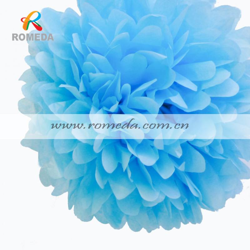 MOQ 50 PCS !!!Various colors &size!!! tissue paper pom poms !! FACTORY DIRECT SALE