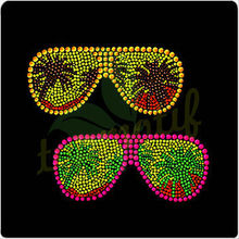 2013 Hotsale Bling Sunglasses Rhinestone Motif for T Shirt Design