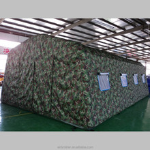 Inflatable military camouflage rescue tent