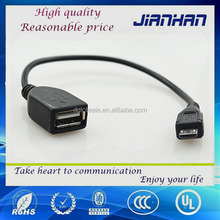 usb OTG CABLE a female to micro usb 2.0 cable China manufacturer