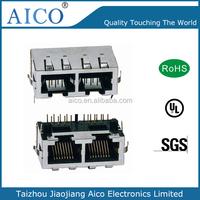 RJ45 female connector Shield PCB Lan Socket