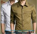 algodón de moda más reciente lavar transpirable y cómodo de buena forma para hombre de moda camisa