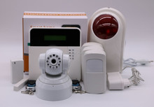 Android ios APP home security X6 Wireless Alarm System with IP camera