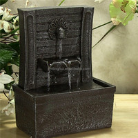 Handmade Natural Resin Material Water Fountain Mini Water Fountain for Garden and Home Decoration