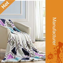 2015 High Quality Factory Direct Cheap Warm Super Soft King Size Superior Wool Plaid Blanket