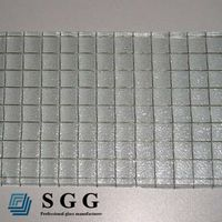 Top quality polished wired patterned glass