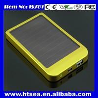 Best sale solar mobile phone charger Portable universal solar power bank 2500mah