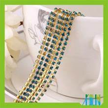 China factory rhinestone cup chain, cup chain rhinestone;High Quality accessories dresses rhinestone cup chain