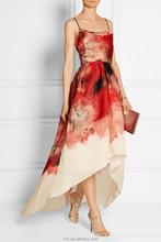 Colorido impressão backless sexy vestido vestido 2015 atacado vestido longo para as mulheres