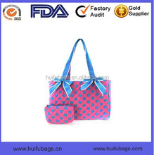 Fashion wholesale Adult Nappy Baby diaper Bag quilted tote Mummy Bag