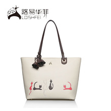 Guangzhou supplier welcome custom cat carrying bag brand name handbag